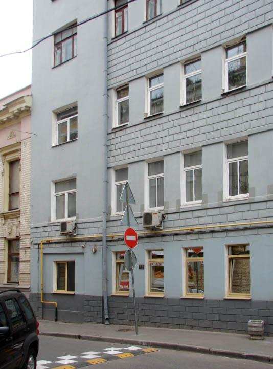 Большой Каретный переулок, дом 15. Присоединение арки.